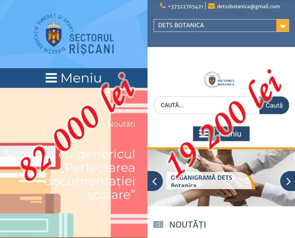 Pagina web de patru ori mai scumpă, achiziționată prin procedură netransparentă petrecută de DETS Rîșcani