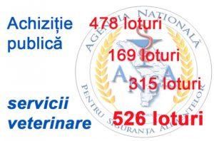 Sute de loturi în procedurile de achiziții publice pentru procurarea serviciilor veterinare
