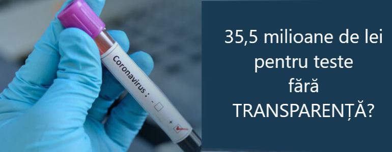 Teste de 35,5 milioane fără transparență?