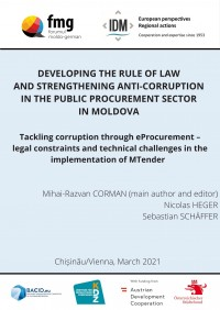 Tackling corruption through eProcurement – legal constraints and technical challenges in the implementation of MTender