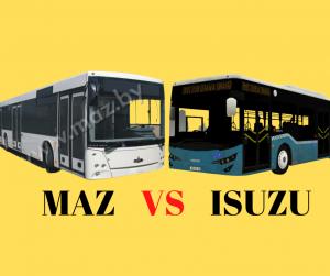 Lupta MAZ și Isuzu pentru cele 100 de autobuze continuă